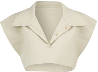 Jacquemus Le Polo Santon cotton-blend crop top