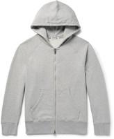 Velva Sheen Loopback Cotton-Blend Jersey Zip-Up Hoodie