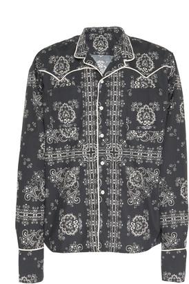 Rhude Printed Cotton Pajama Shirt