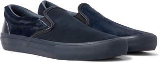 Vans + Engineered Garments Vault Lx Calf Hair, Suede And Leather Slip-On Sneakers