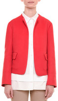 Jil Sander Open-Front Cashmere Jacket, Red