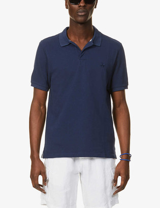 Vilebrequin Turtle-embroidered cotton-pique polo shirt