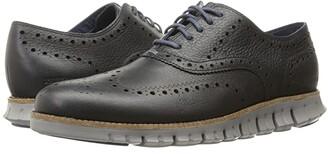 Cole Haan Zerogrand Wing Ox (Navy Ink Leather Closed/Ironstone) Men's Lace Up Wing Tip Shoes
