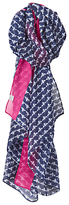 Joules Longline Wensley French Bee Scarf, Navy/Multi