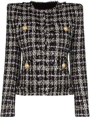 Balmain Structured Tweed Blazer