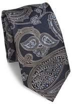 Brioni Large Paisley Printed Silk Tie