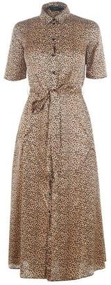 SET Leopard Midi Dress