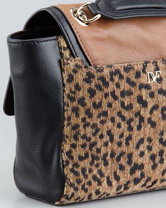 Diane von Furstenberg Leopard-Print Mixed-Media Mini Crossbody Bag (Blogger Pick!)
