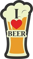 "I Love Beer Glass Sticker Decal Design 3"" X 6"""