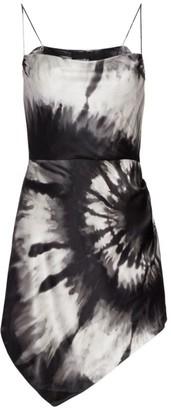 retrofete Auris Tie-Die Silk-Blend Mini Dress
