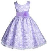 ekidsbridal Wedding Floral Lace Overlay Flower girl dress Toddler Princess 163s m