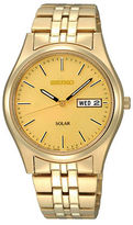 Seiko Mens Goldtone Functional Solar Watch