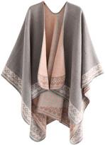 Idowela Women's Shawls grey - Gray Geometric-Trim Shawl