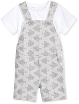 First Impressions 2-Pc. T-Shirt & Fish-Print Overall Set, Baby Boys (0-24 months), Created for Macy's