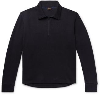 Chimala Ribbed Cotton Half-Zip Sweater
