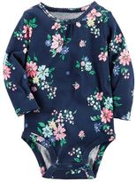Carter's Baby Girl Floral Shirred Bodysuit