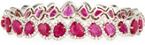 Diana M. Jewels 18k Ruby & Diamond Bangle Bracelet