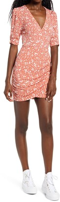 ALL IN FAVOR Ruched Detail Minidress
