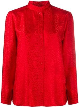 A.P.C. Collarless Long Sleeved Shirt