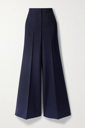 Victoria Victoria Beckham Woven Wide-leg Pants - Navy