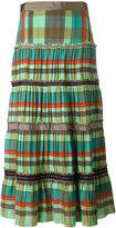 Etro striped ruffled midi skirt - women - Silk - 40