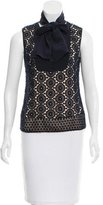 Tory Burch Sleeveless Broderie Anglaise Top