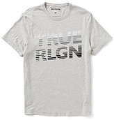 True Religion Layered Crewneck Short-Sleeve Logo Graphic Tee
