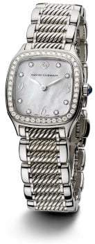 David Yurman Thoroughbred 25Mm Stainless Steel And Sterling Silver