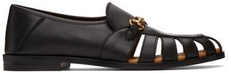 Gucci Black Interlocking G Horsebit Loafers