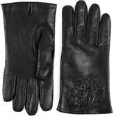 Gucci Tiger embossed leather gloves