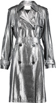 3.1 Phillip Lim Metallic lam&eacute trench coat