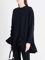 Givenchy Ruffled oversized cotton-jersey sweatshirt