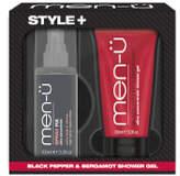 Menu men-u Style+ Black Pepper & Bergamot Shower Gel 100ml - Spray Fix