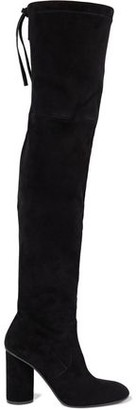 Stuart Weitzman Helena Stretch-suede Over-the-knee Boots