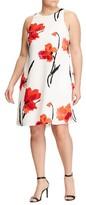 Lauren Ralph Lauren Plus Size Women's Floral Pleat Shift Dress