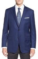 Hickey Freeman Men's 'The Traveler' Classic Fit Solid Wool Sport Coat