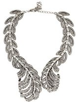 Oscar de la Renta Pavé Crystal Feather Necklace