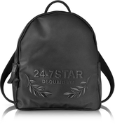 DSQUARED2 24-7 Star Icon Black Nylon Backpack