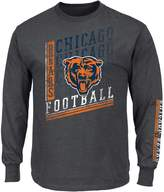 Majestic Big & Tall Chicago Bears Two Hits Tee