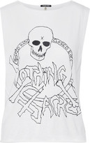 R 13 Nothing Sacred Printed Cotton And Cashmere-Blend Jersey Tank