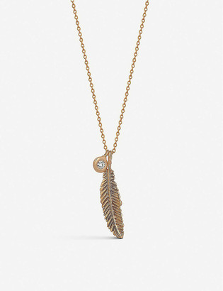 The Alkemistry Kismet by Milka Raven 14ct rose-gold and diamond necklace