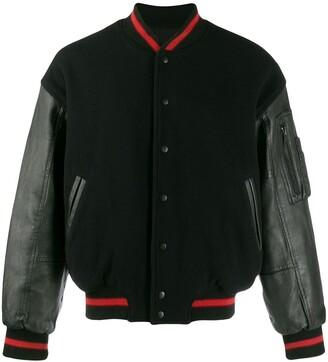 Kansai Yamamoto Pre Owned Leather Bomber Jacket