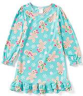 Komar Kids Little/Big Girls 4-16 Christmas Gingerbread Nightgown