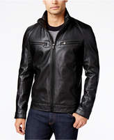 MICHAEL Michael Kors Men's Perforated Faux-Leather Moto Jacket