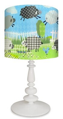 """Oopsy Daisy Fine Art For Kids Counting Sheep 21"""" Table Lamp"""