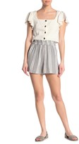 Angie Striped High Waisted Paperbag Shorts