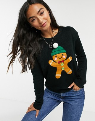 Brave Soul gingerbread christmas jumper