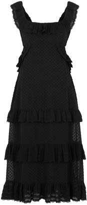 Zimmermann Black fil coupe midi dress