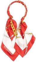 Balenciaga Logo silk-twill scarf-necklace