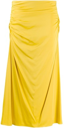Theory twisted draped skirt